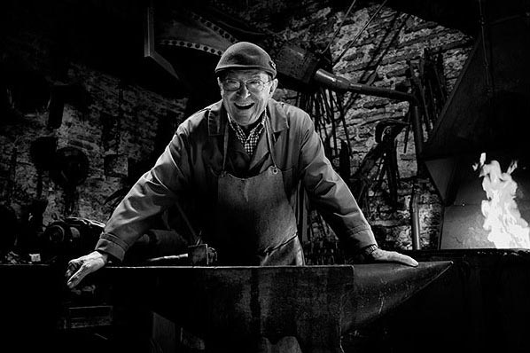 portrait of a blacksmith - taken during a Photography Vacation in France