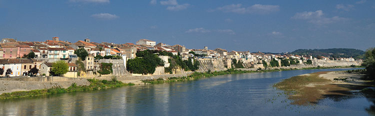 Tonneins and the Garonne from a painting and photography holiday in France